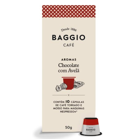 Cápsulas de Café Baggio Chocolate Avelã 10 Unid