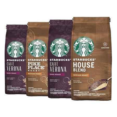 Café Em Pó Starbucks, 100% Arábica, 4 Pacotes, 1.000G