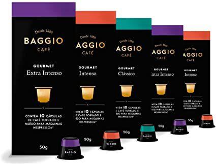 Café Baggio Gourmet Para Nespresso, 5 Caixas, 50 Cápsulas