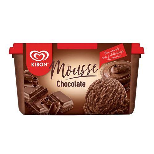 KIBON SORVETE MOUSSE CHOCOLATE 1.3L