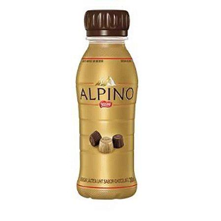 Bebida láctea sabor chocolate alpino fast 280ml