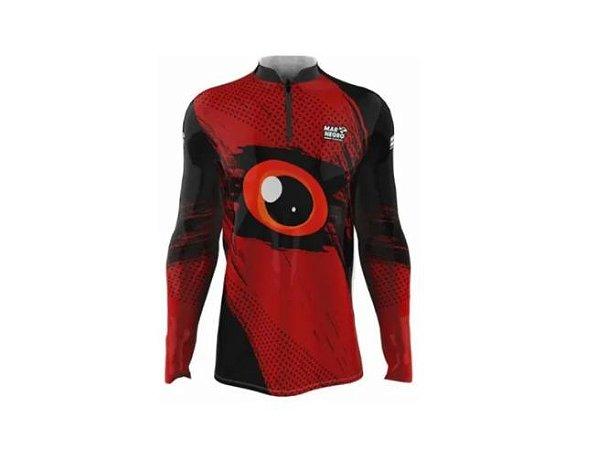 Camiseta Camisa Pesca Proteção Uv50 Mar Negro - Olhos M