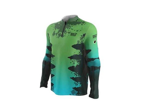 Camiseta Camisa Pesca Proteção Uv50 Mar Negro - Zig Zara GG