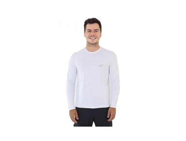 Camiseta Camisa Pesca Poliamida Uv50 Mar Negro - Branco P