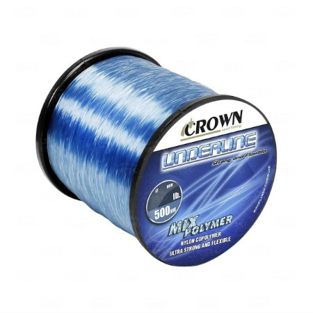 LINHA MONOFILAMENTO CROWN UNDERLINE 0,26MM 500 MTS 12LBS