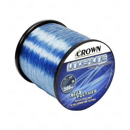 LINHA MONOFILAMENTO CROWN UNDERLINE 0,52MM 500 MTS 48LBS