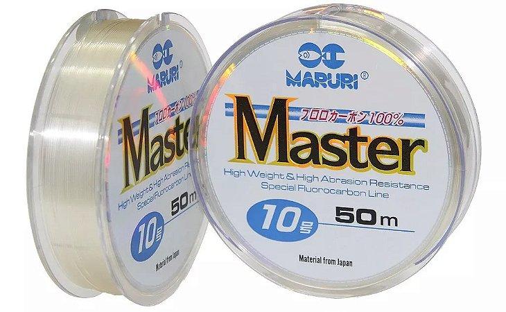 LINHA FLUORCARBONO MARURI MASTER 50M 10 0,55MM 20,7Kg