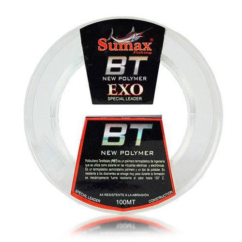 LINHA FLUORCARBONO SUMAX LEADER BT-EXO-080 0,80MM 80 LBS 100 MTS