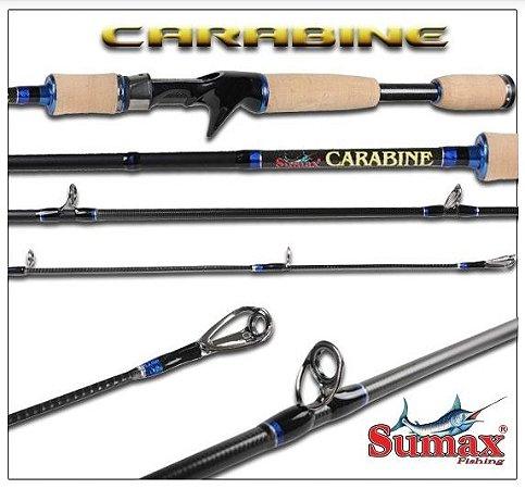 VARA INTEIRA CARRETILHA SUMAX CARABINE PEC SCB-110 1,86M 6-10LBS