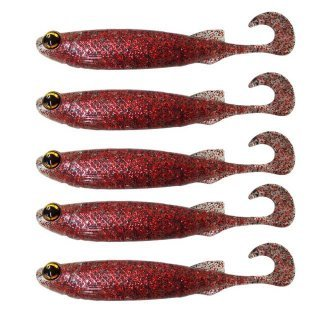 ISCA ARTIFICIAL SOFT MONSTER 3X E-SHAD ULTRA RED 5 UNID