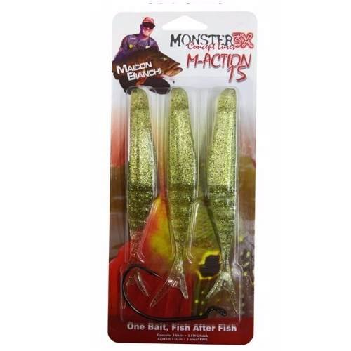 ISCA ARTIFICIAL SOFT MONSTER 3X M-ACTION 15CM GOLD SHINE 3 UNID