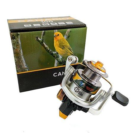 Micro Molinete Albatroz Canário 3 Rolamentos 150g Dourado