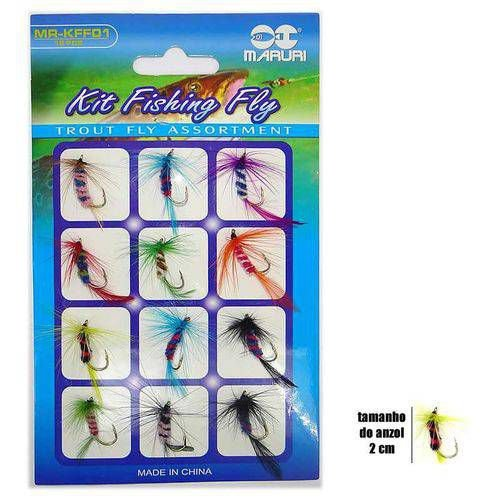 ISCA ARTIFICIAL MARURI KIT FISHING FLYMR-KFF01 CART C 12 PEÇAS