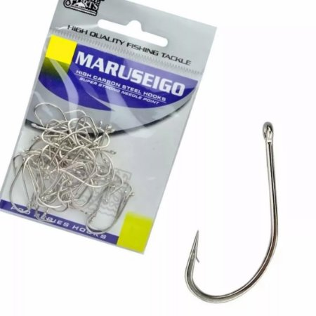 ANZOL CARTELA MARINE SPORTS MARUSEIGO NICKEL 26 C/ 15