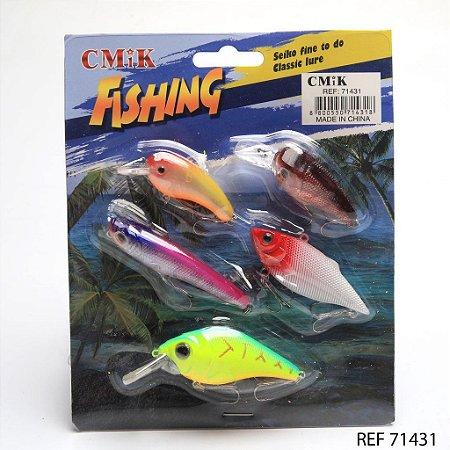 ISCA ARTIFICIAL CMIK FISHING SET SENUELOS 5 UN