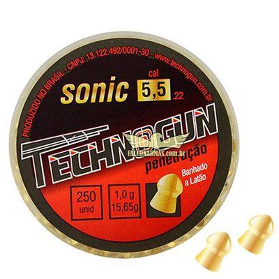 CHUMBINHO TECHNOGUN SONIC GOLD 5,5 C/125PCS