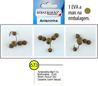 ANTENINHA BARÃO - BORBOLETA - ANZOL 3/0 SASAME - E.V.A 11MM BÓIAS BARÃO