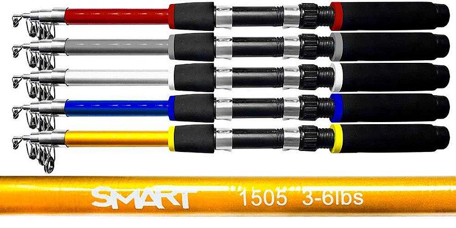 VARA TELESCÓPICA P/ MOLINETE ALBATROZ SMART 1805 1,80 MTS 5 PARTES