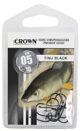 ANZOL CARTELA CROWN CHINU BLACK Nº 8 C/10