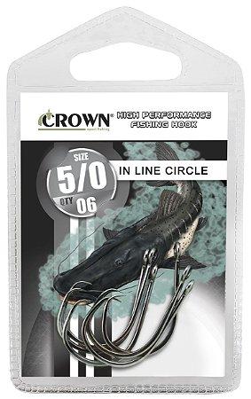 ANZOL CARTELA CROWN IN LINE CIRCLE BLACK Nº 5/0 C/06