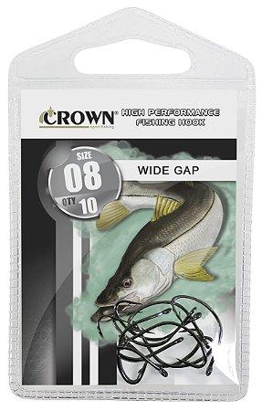 ANZOL CARTELA CROWN WIDE GAP BLACK Nº 1/0 C/10
