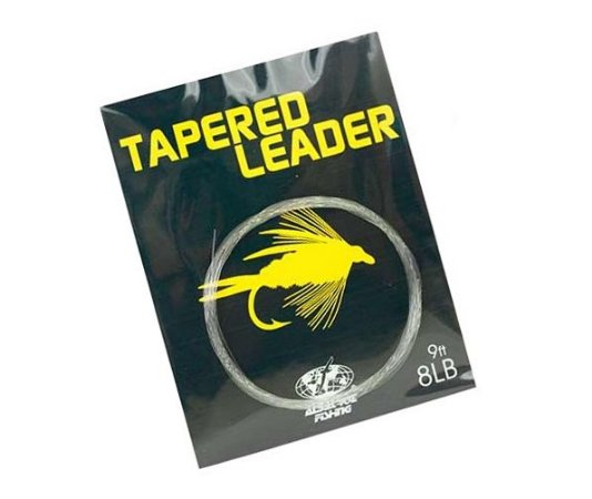 LINHA MONOFILAMENTO ALBATROZ TAPERED LEADER FLY FISHING 8LBS 2,70M