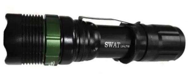LANTERNA TATICA LED 3W SWAT LV716 22000W PROVA D'ÁGUA