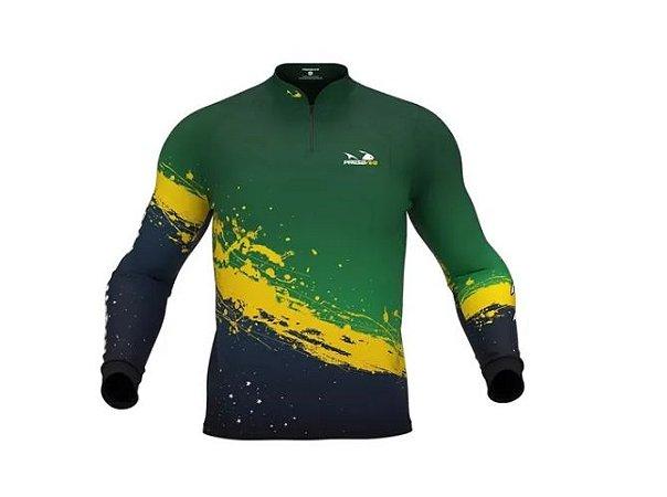 Camisa Camiseta Pesca Presa Viva Pv Masculino 10 XG