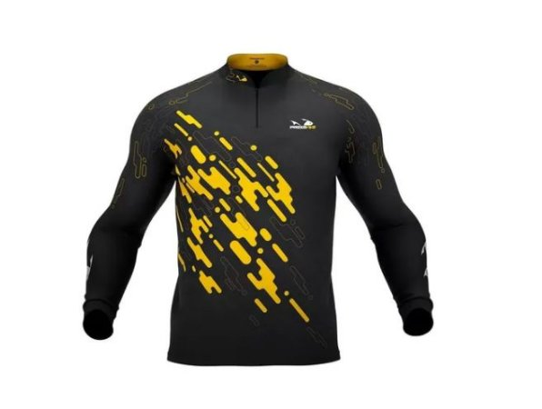 Camisa Camiseta Pesca Presa Viva Tucunaré Amarelo Masc. 01 G