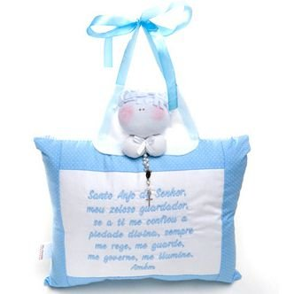 Almofada Santo Anjo Grande Azul