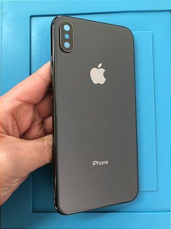 Carcaça Iphone XS Max Preto Chassi detalhes !!