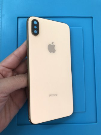 Carcaça Iphone XS Max Dourada Chassi Impecável