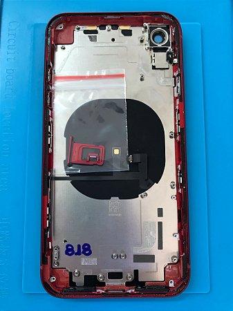 Carcaça Iphone XR Vermelha Original Apple Chassi Impecável  !!!