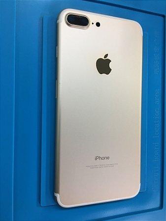 Carcaça Iphone 7 Plus Dourada Original Apple Impecavel