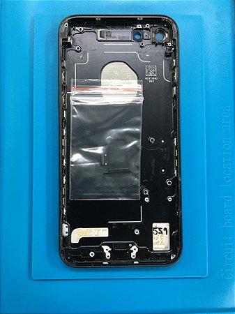 Carcaça Iphone 7 Preta Fosco Original Com Detalhes