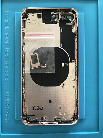 Carcaça Chassi Iphone 8 Plus Rose Gold Original Apple Zerada