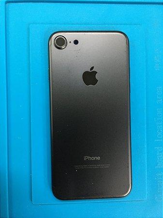 Carcaça Chassi Iphone 7 Preto Fosco Original Apple com detalhes.