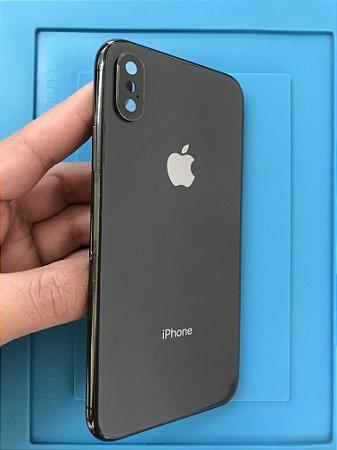 Carcaça Iphone X Preta Original Apple Chassi
