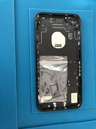 Carcaça Chassi Iphone 7 Preta Original Apple com Único Detalhe