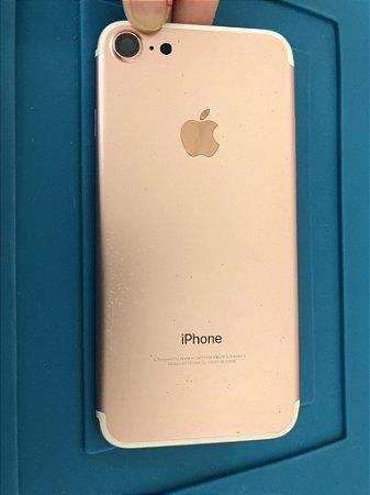 Carcaça Chassi Iphone 7 Rose Original Apple com detalhes
