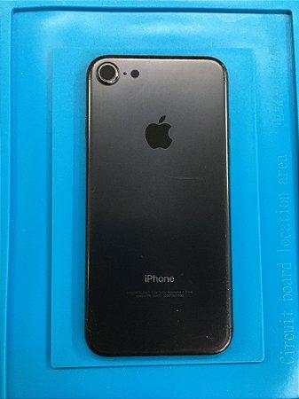 Carcaça Chassi Iphone 7 Preta Original Apple com detalhes