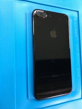 Carcaça Chassi Iphone 7 Plus Preto Brilhante  Com Marcas !!