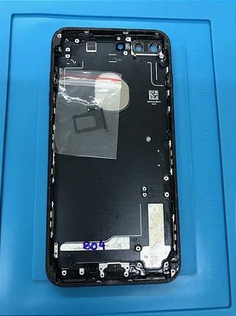 Carcaça Chassi Iphone 7 Plus Preta Original Apple com detalhes.