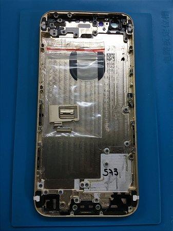 Carcaça Chassi Iphone 6 Dourado com Detalhes