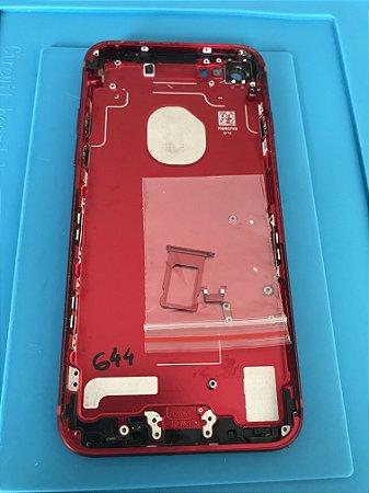 Carcaça Chassi Iphone 7 Red Original Apple com detalhes