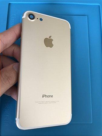 Carcaça Chassi Iphone 7 Dourada Original Apple impecável