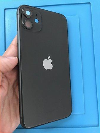Carcaça Chassi Iphone 11 Preto Original Apple