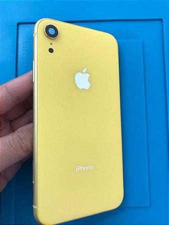 Carcaça Iphone XR Amarelo  Chassi Original Apple