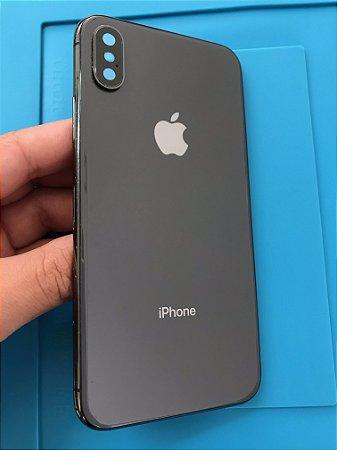 Carcaça Iphone X Preta Chassi Original Apple  marcas de uso
