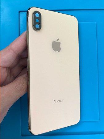Carcaça Iphone XS Max Dourada Chassi sem gaveta